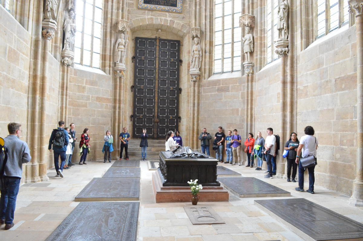 Guided of our group inside of the cathedral